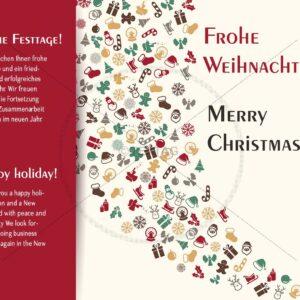 extravagante geschäftliche Weihnachts eCard, Spruch auf englisch & deutsch (371)