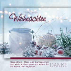 geschäftliche, elegante Weihnachts E-Card, ohne Werbung (00427)