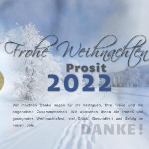 romantische E-Card Winterlandschaft - Weihnachtskarte ohne Werbung (0102)