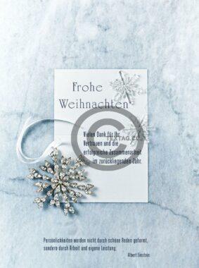 umweltfreundliche, Weihnachts E-Card in Pastellblau mit Spruch, ohne Werbung (568)