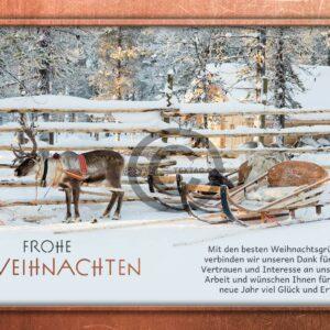 umweltfreundlichen, nostalgische Weihnachts eCard in Bronze für Kunden, ohne Werbung (571)