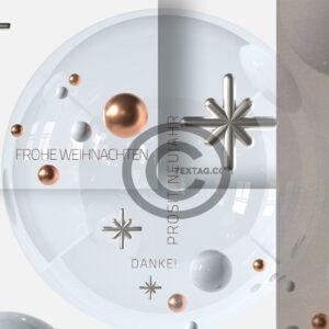stylische, geschäftliche Weihnachts eCard in Bronze, ohne Werbung (596)