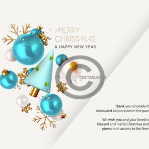 extravagante Weihnachts E-Card für Kunden mit Spruch in EN (604)