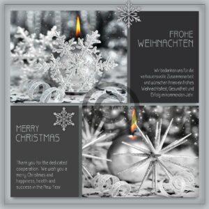 geschäftliche Weihnachts E-Card mit Spruch • Weihnachts Grußkarte in Silber (621)