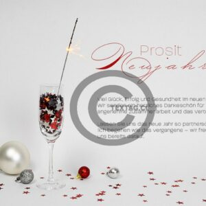 edle Neujahrsgrußkarte für Kunden, E-Card mit Spruch, ohne Werbung (648)