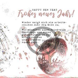 abstrakte Neujahrsgrußkarte für Kunden, E-Card mit Spruch, ohne Werbung (652)