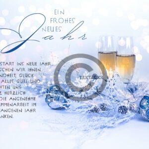 edle, geschäftliche Neujahrsgrußkarte, E-Card mit Spruch, ohne Werbung (653)