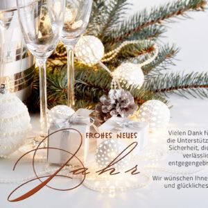 geschäftliche Neujahrsgrußkarte, E-Card mit Spruch, ohne Werbung (660)