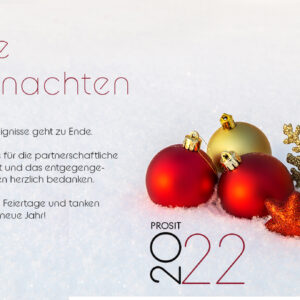 Weihnachts Ecard mit Spruch geschäftlich, ohne Werbung (626)