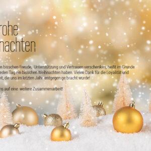 Weihnachtsecard in Gold, mit Spruch geschäftlich, ohne Werbung (627)