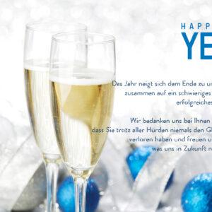 geschäftliche Neujahrs E-Card mit Spruch, ohne Werbung (630)