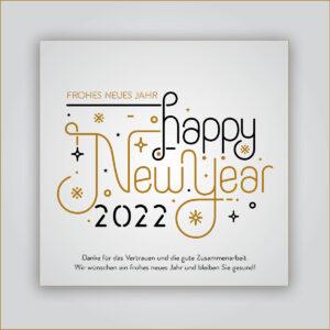 Happy New Year, geschäftliche Neujahrs E-Card mit Spruch, ohne Werbung (631)