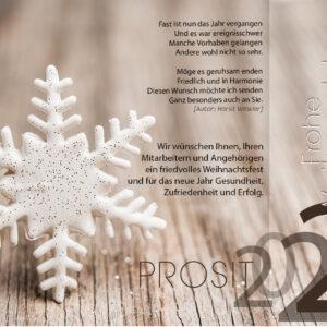 edle Weihnachtskarte mit Stern - Weihnachts e Card für Firmen (0353)