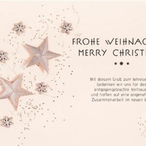 geschäftliche Weihnachts-E-Card in Rosé-Gold Pastell, ohne Werbung, mit Spruch (0669)