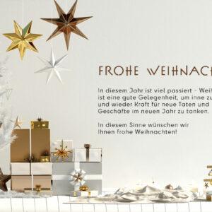 moderne, digitale, geschäftliche Weihnachtskarte, E-Card, ohne Werbung, mit Spruch (0670)