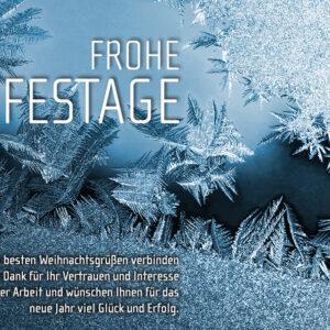 Frohe Festtage, elektronische Weihnachtskarte für Kunden, mit Spruch, ohne Werbung (0675)