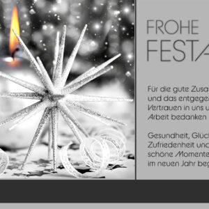 geschäftliche Weihnachtskarte mit Spruch, ohne Werbung (0676)