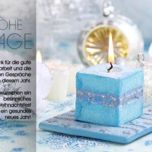 Frohe Festtage, geschäftliche Weihnachtskarte mit Spruch, ohne Werbung (0677)