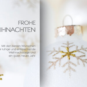 eCard - geschäftliche Weihnachtskarte in weiß und gold (0678)