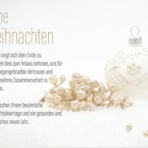 geschäftliche Weihnachtskarte E-Card in Weiß & Gold mit Spruch (682)