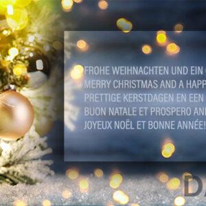 nostalgische, geschäftliche Weihnachts E-Card, Spruch mehrsprachig, ohne Werbung (0685)