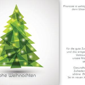 geschäftliche Weihnachts E-Card in Grün, ohne Werbung, mit Spruch (689)