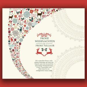 außergewöhnliche geschäftliche Weihnachts eCard, Spruch auf Deutsch oder Englisch (0691)