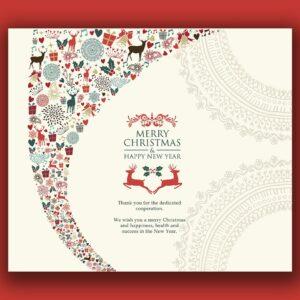 außergewöhnlihce geschäftliche Weihnachts eCard, Spruch auf Englisch 0692)