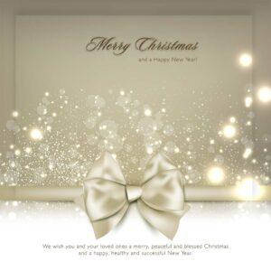 Weihnachts E-Card für Kunden in Gold und Weiß