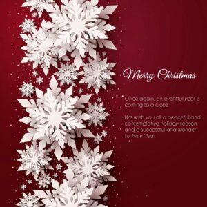 edle Weihnachts E-Card mit 3D-Effekt, Spruch in EN, Rot / Weiß, ohne Werbung (702)